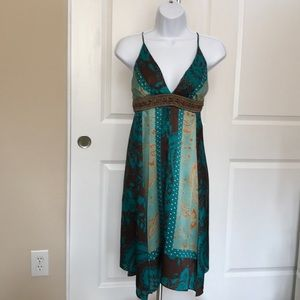 The Pyramid Collection 100% Silk Summer Dress
